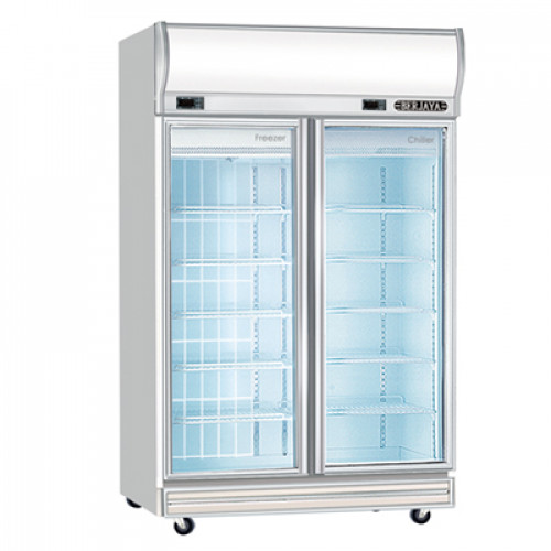 DUAL DISPLAY CHILLER & FREEZER