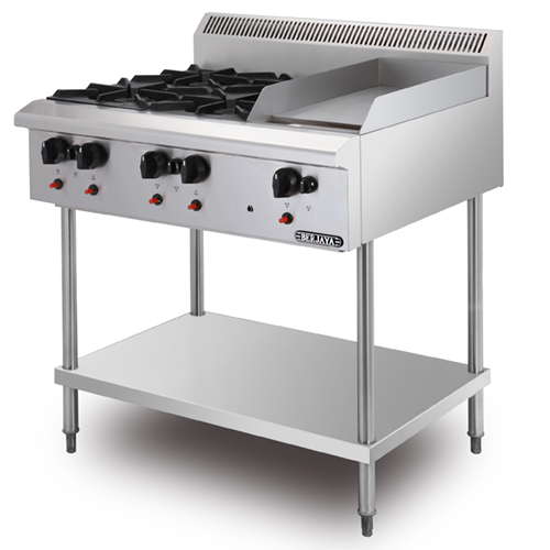 COMBINATION OPEN BURNER GRIDDLE