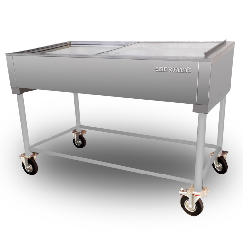 STAINLESS STEEL SEAFOOD DISPLAY WITH STAND