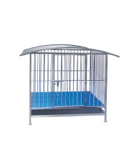 STAINLESS STEEL DOG CAGE WITH ROOF