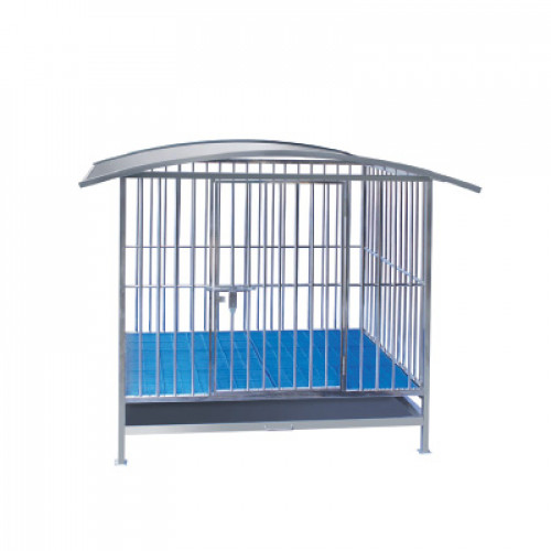 STAINLESS STEEL KENNEL / DOG CAGE